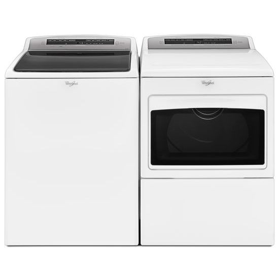 Model: WGD7500GW   7.4 cu.ft Top Load HE Gas Dryer with AccuDry™, Intuitive Touch Controls