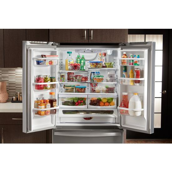 Model: WRF535SWHW   Whirlpool 36-inch Wide French Door Refrigerator with Water Dispenser - 25 cu. ft.