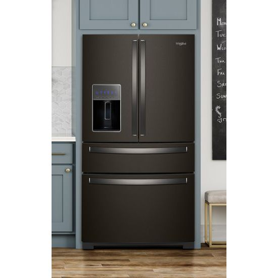 Model: WRX986SIHV | 36-inch Wide 4-Door Refrigerator with Exterior Drawer - 26 cu. ft.