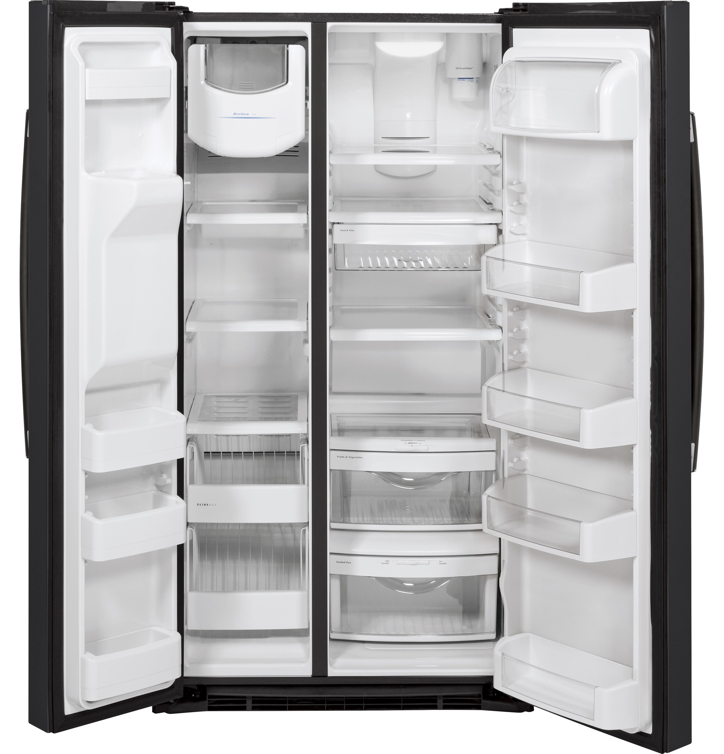 Model: GSE25HEMDS | GE® ENERGY STAR® 25.3 Cu. Ft. Side-By-Side Refrigerator