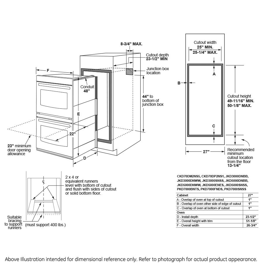 Model: JKD3000DNBB | GE® 27