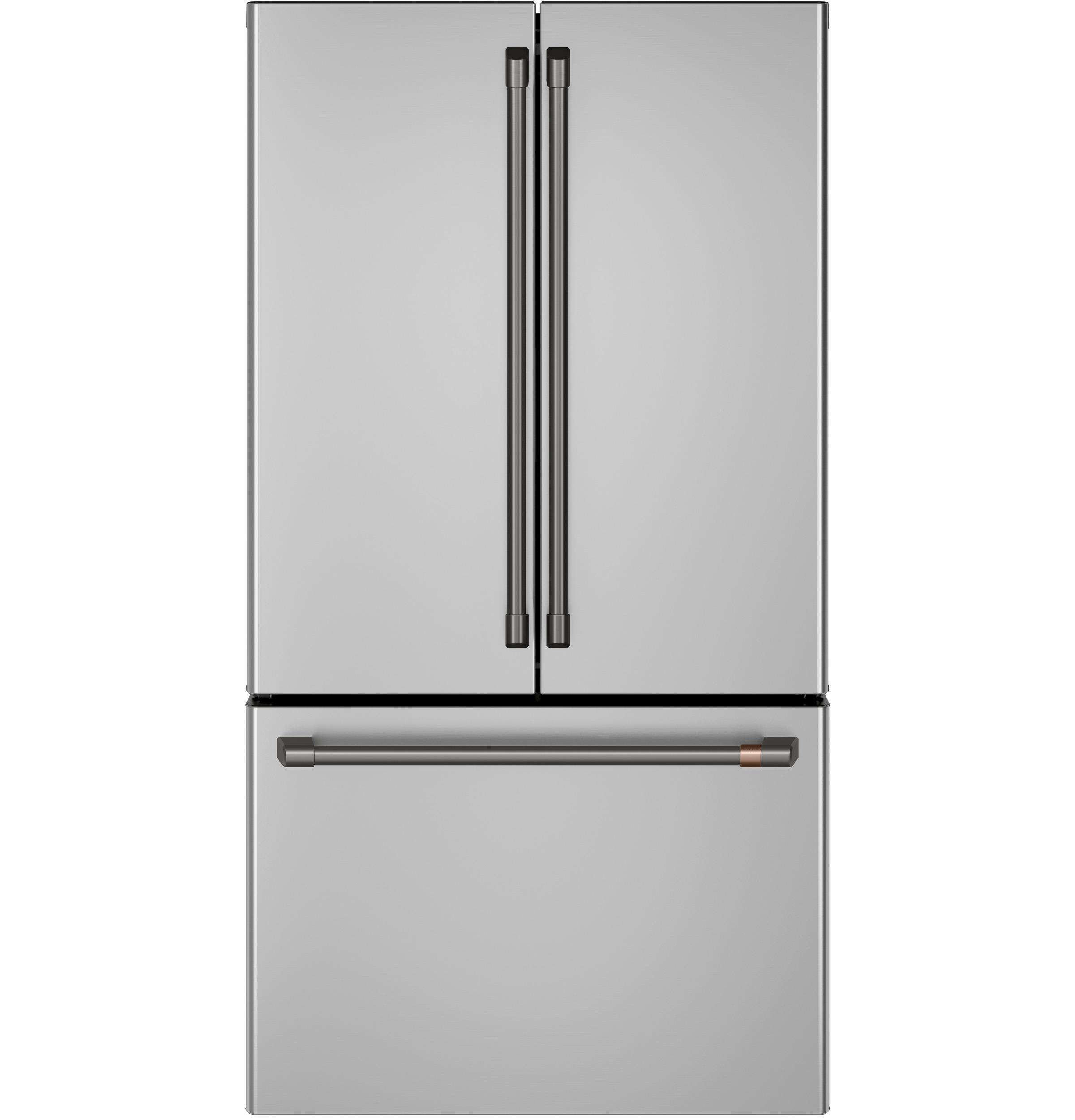 Model: CWE23SP2MS1 | Café™ ENERGY STAR® 23.1 Cu. Ft. Counter-Depth French-Door Refrigerator