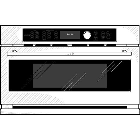 Model: ZSC1201JSS | Monogram Built-In Oven with Advantium® Speedcook Technology- 120V