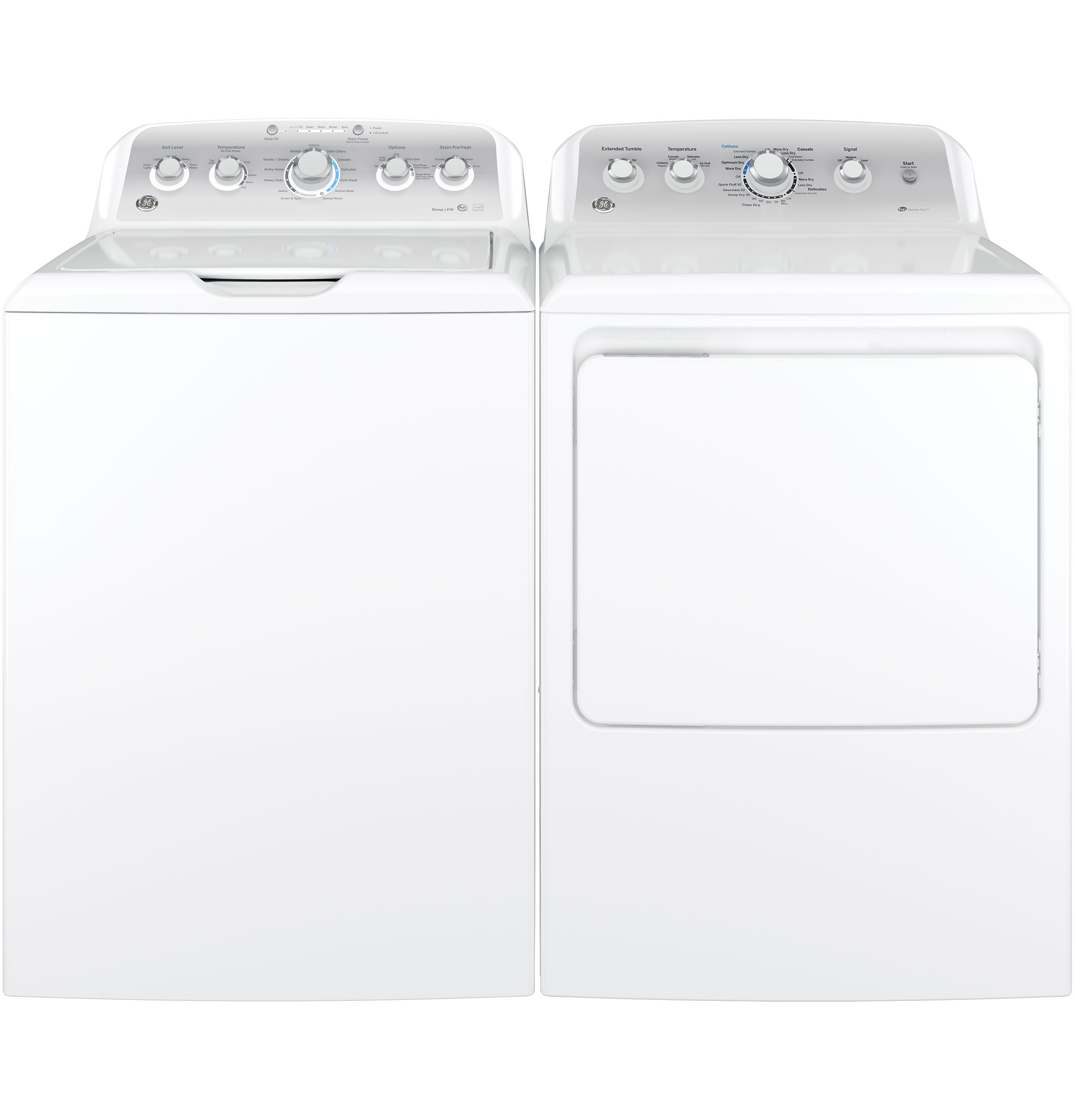 Model: GTD45EASJWS | GE® 7.2 cu. ft. Capacity aluminized alloy drum Electric Dryer with HE Sensor Dry