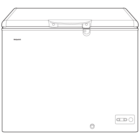 Model: HCM9DMWW | Hotpoint 9.4 Cu. Ft. Manual Defrost Chest Freezer