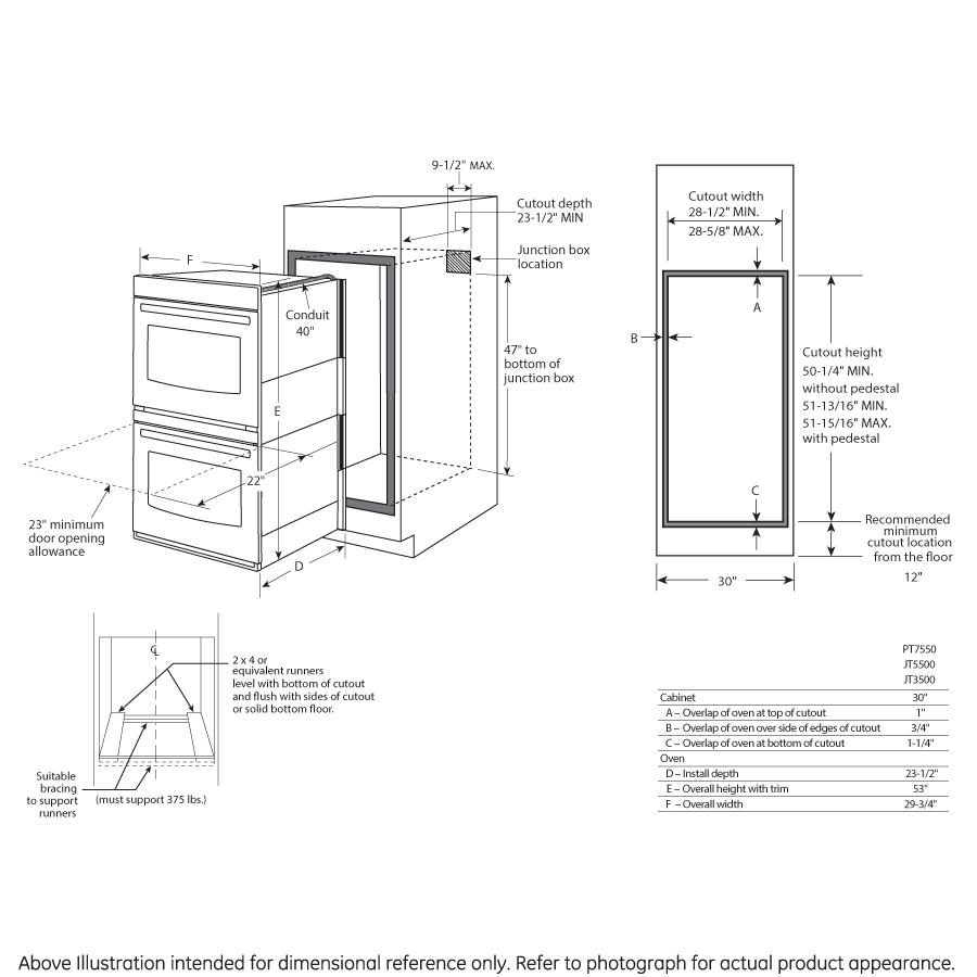 Model: JT5500BLTS | GE® 30