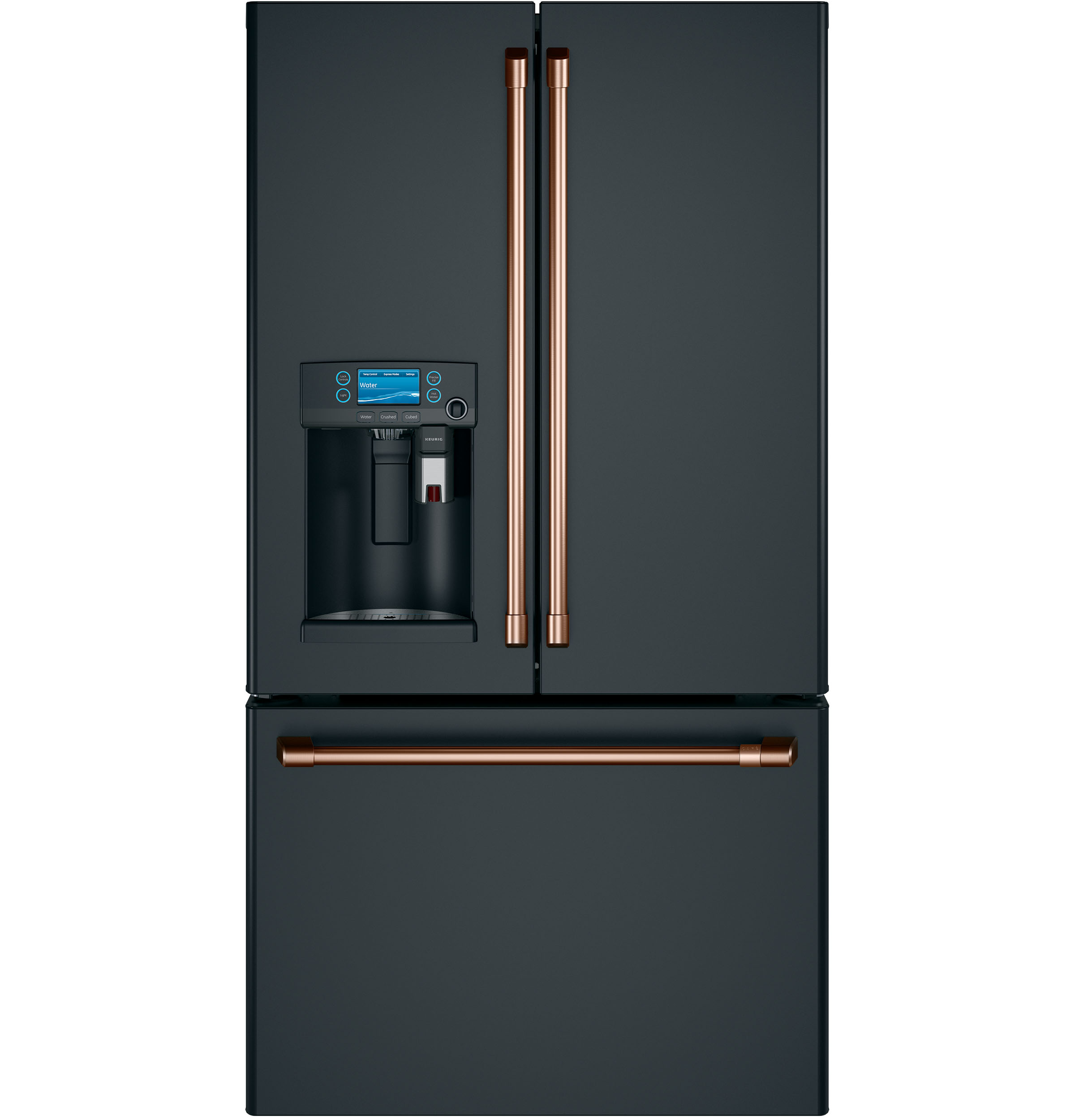 Model: CYE22UP3MD1 | Café™ ENERGY STAR® 22.2 Cu. Ft. Counter-Depth French-Door Refrigerator with Keurig® K-Cup® Brewing System