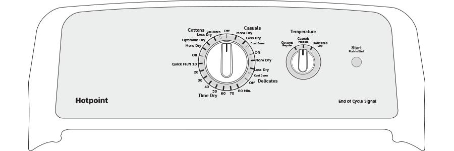 Model: HTX24EASKWS | Hotpoint® 6.2 cu. ft. Capacity aluminized alloy Electric Dryer