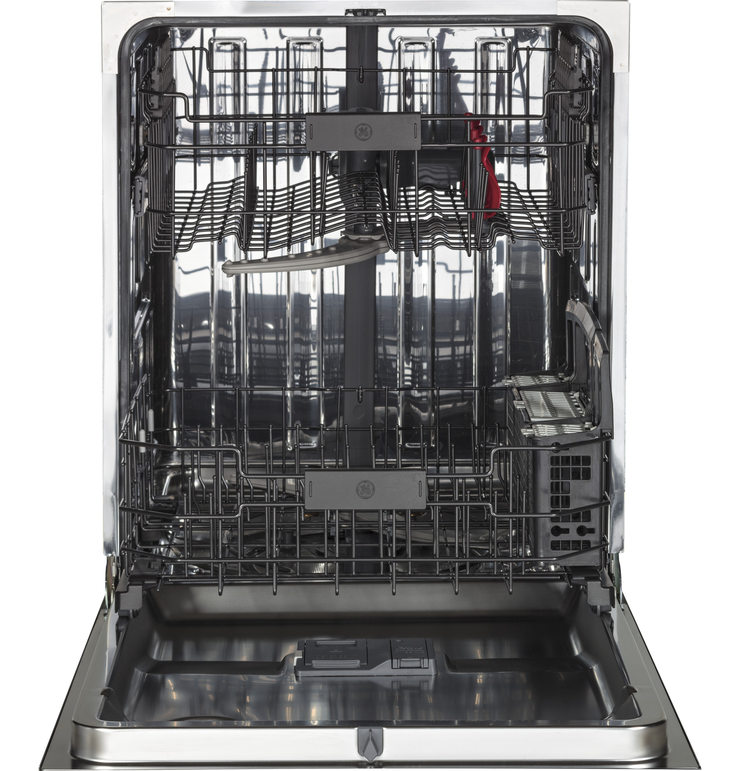 Model: GDT655SMJES | GE® Stainless Steel Interior Dishwasher with Hidden Controls
