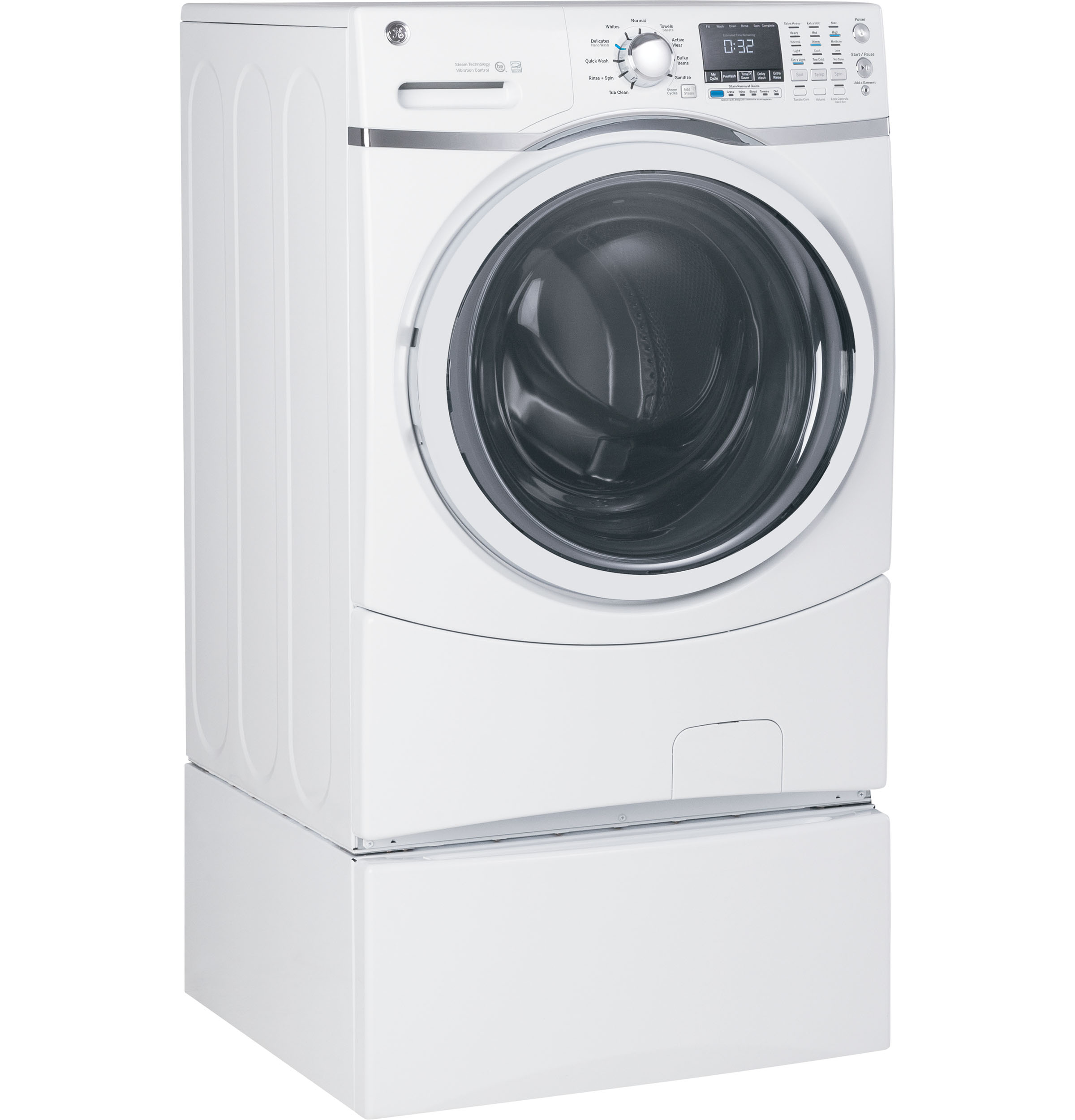 Model: GFW450SSMWW | GE® 4.5 cu. ft. Capacity Front Load ENERGY STAR® Washer with Steam
