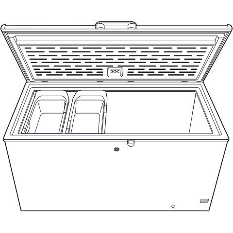 Model: FCM16SLWW   GE® 15.7 Cu. Ft. Manual Defrost Chest Freezer