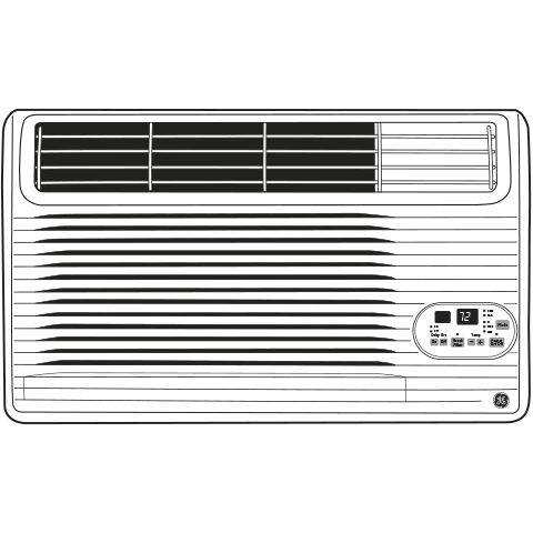 Model: AJCM12DCG | GE® 230/208 Volt Built-In Cool-Only Room Air Conditioner
