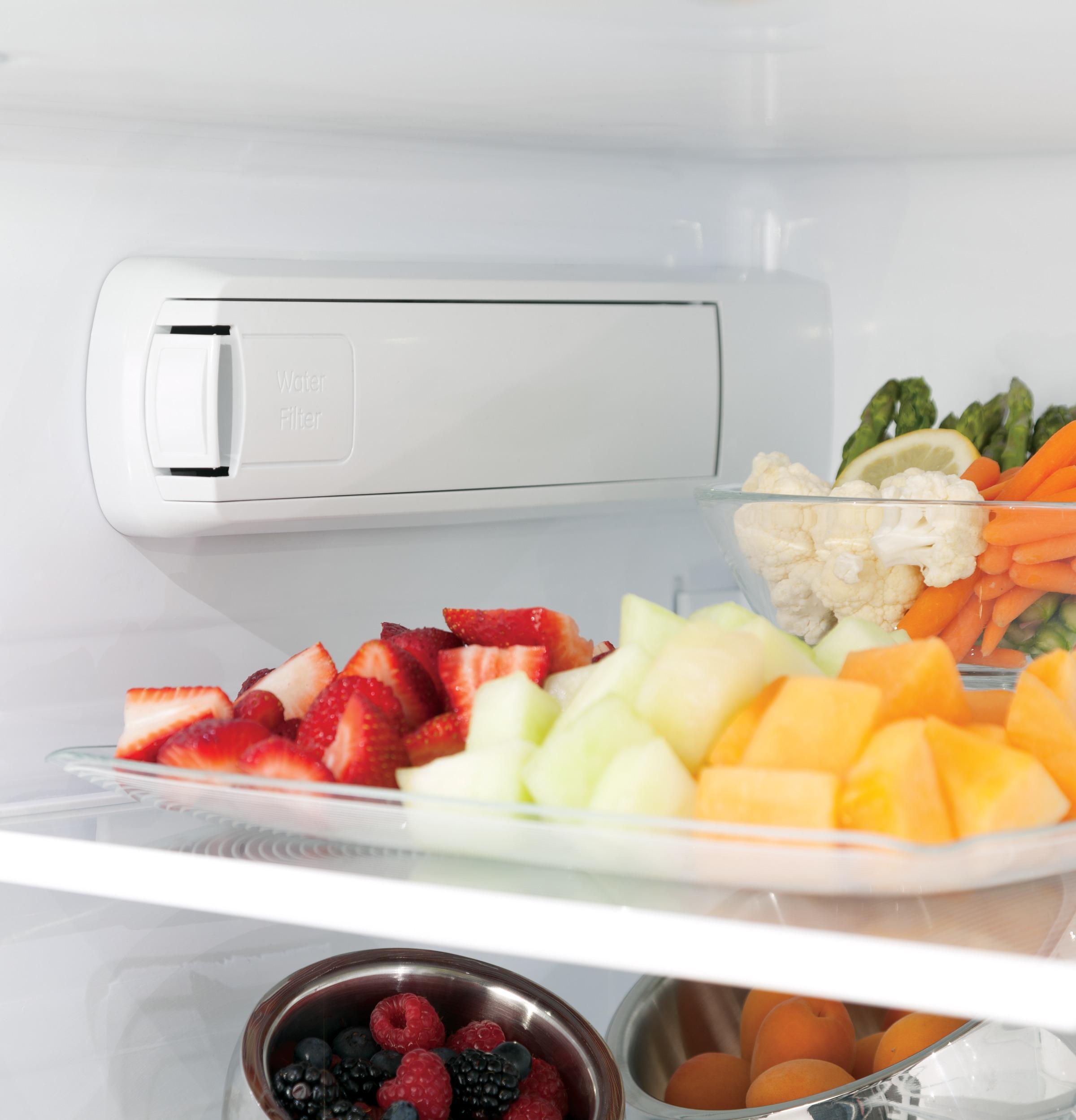 Model: GYE22HMKES | GE® ENERGY STAR® 22.2 Cu. Ft. Counter-Depth French-Door Refrigerator