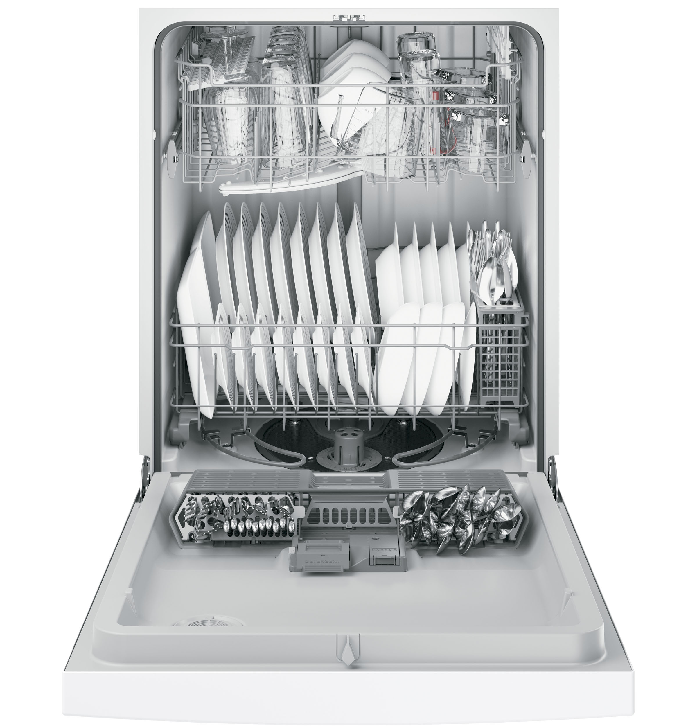 Model: GDF610PGJWW   GE® Dishwasher with Front Controls