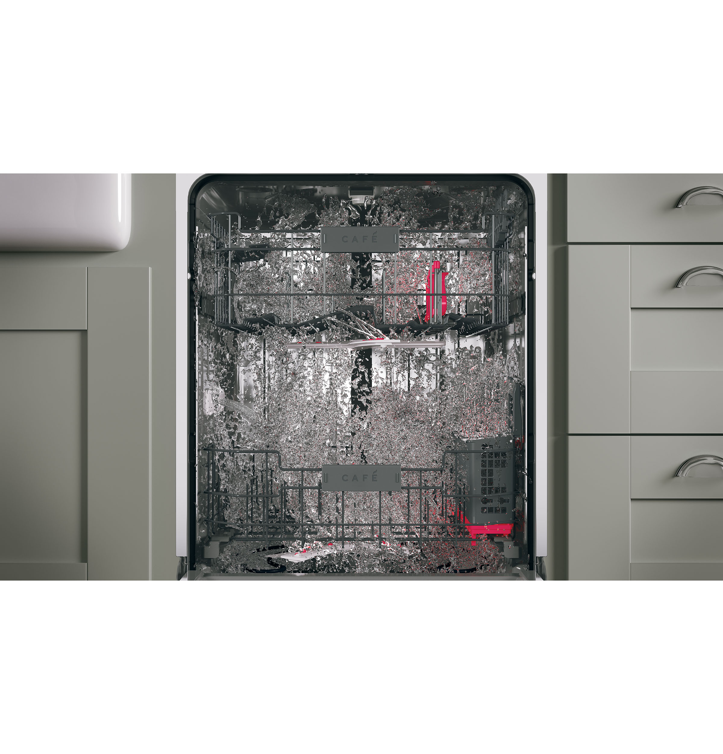 Model: CDT866P2MS1 | GE Café™ Series Stainless Interior Built-In Dishwasher with Hidden Controls