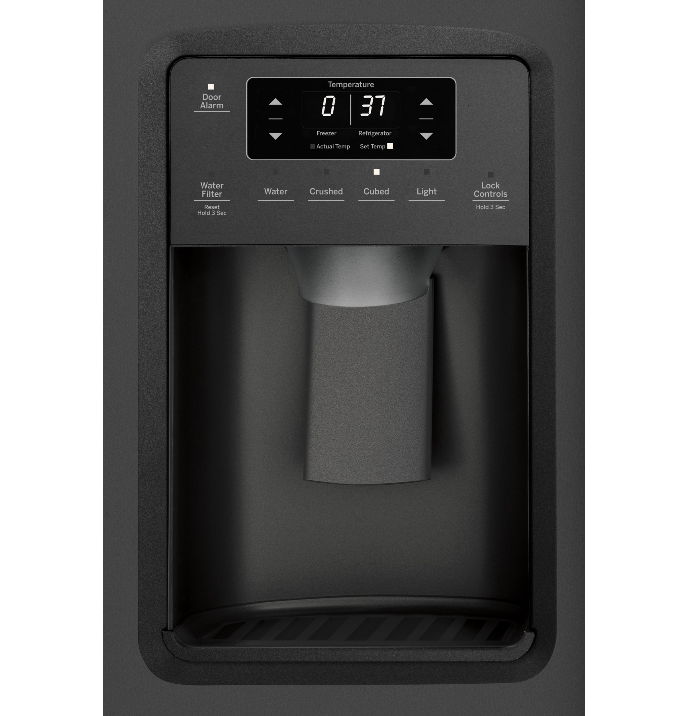 Model: GSS25IENDS | GE GE® 25.1 Cu. Ft. Side-By-Side Refrigerator