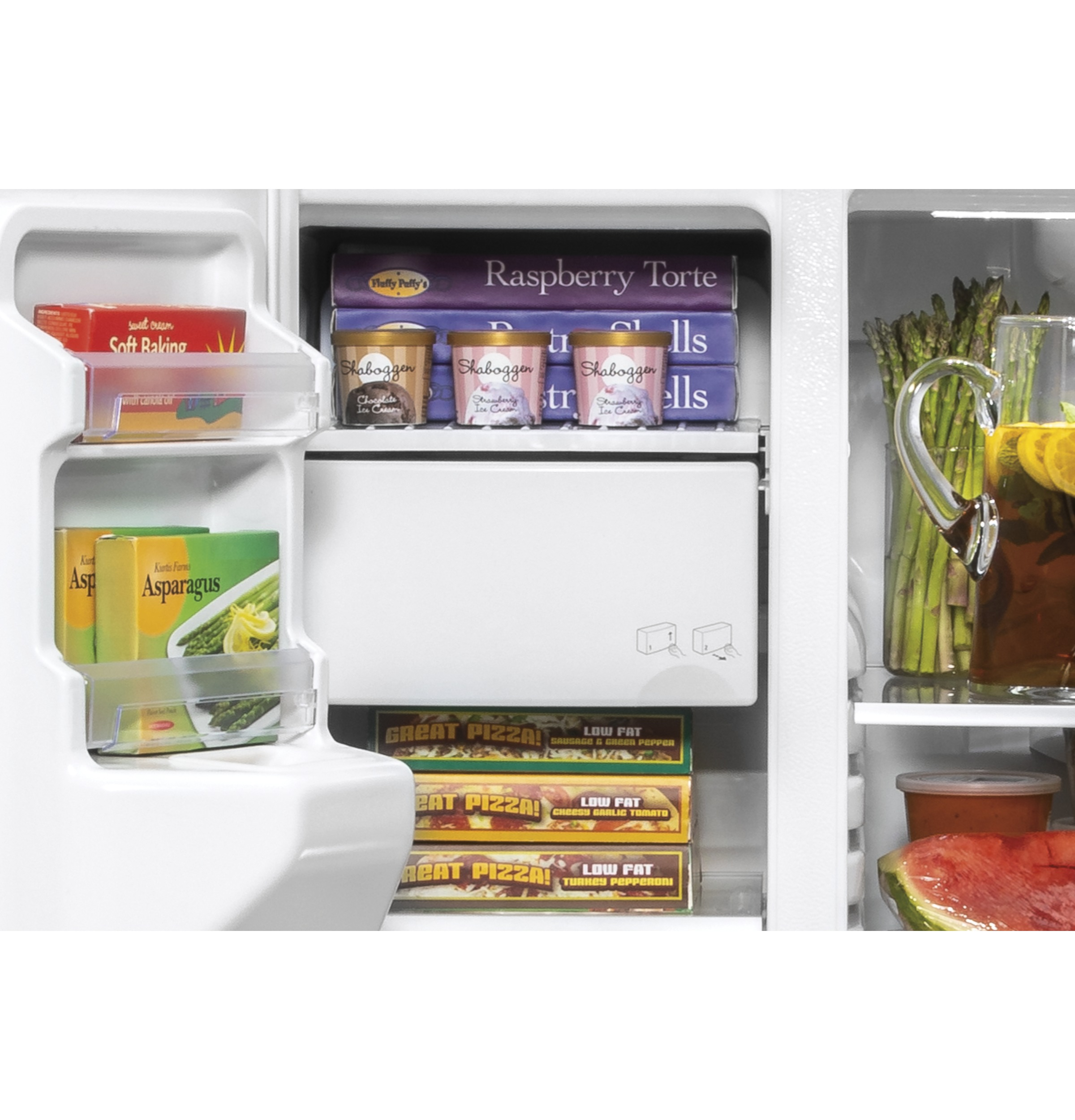 Model: GSS25IENDS | GE GE® 25.1 Cu. Ft. Side-By-Side Refrigerator