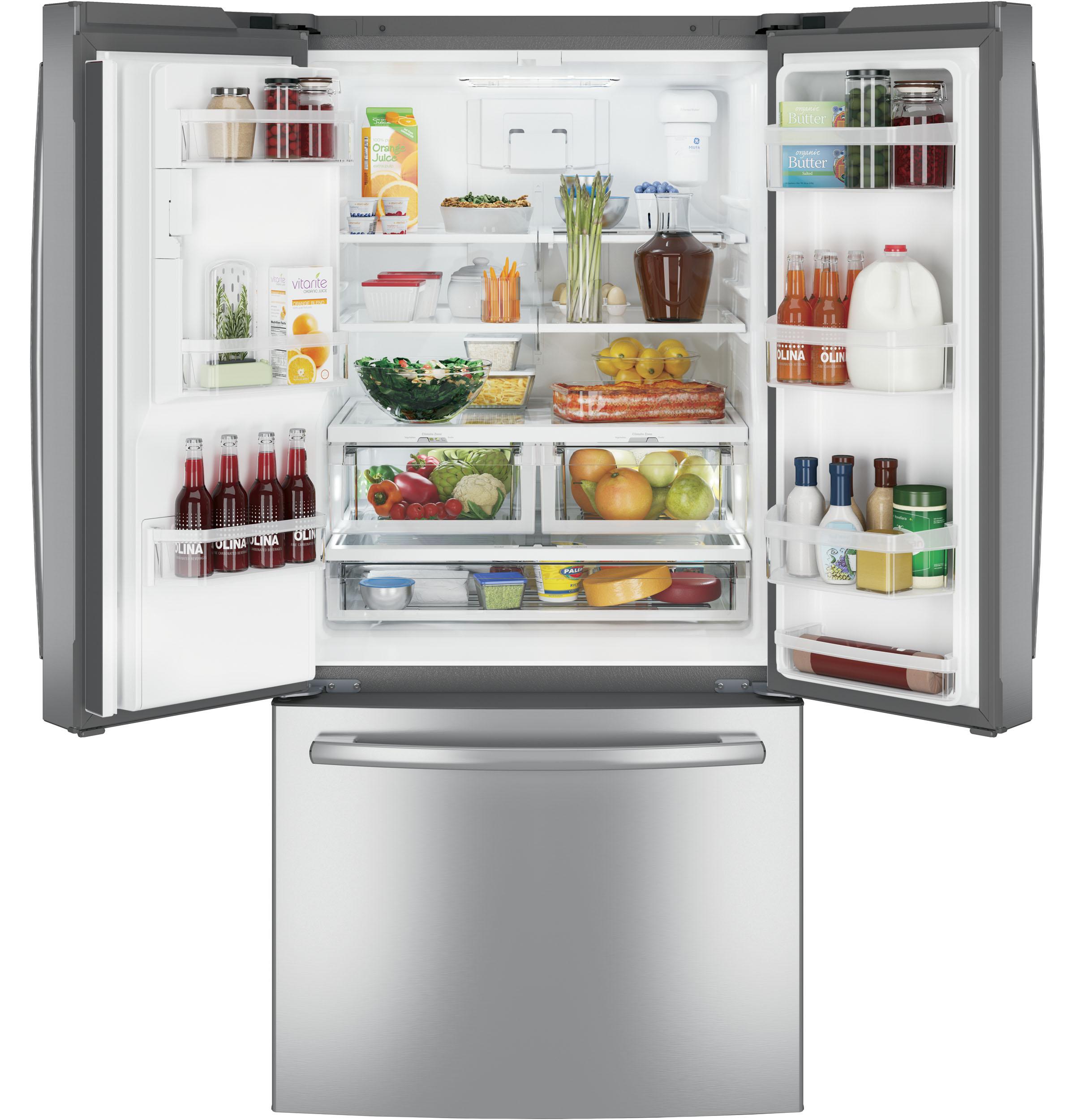 Model: GFE24JSKSS | GE® ENERGY STAR® 23.7 Cu. Ft. French-Door Refrigerator