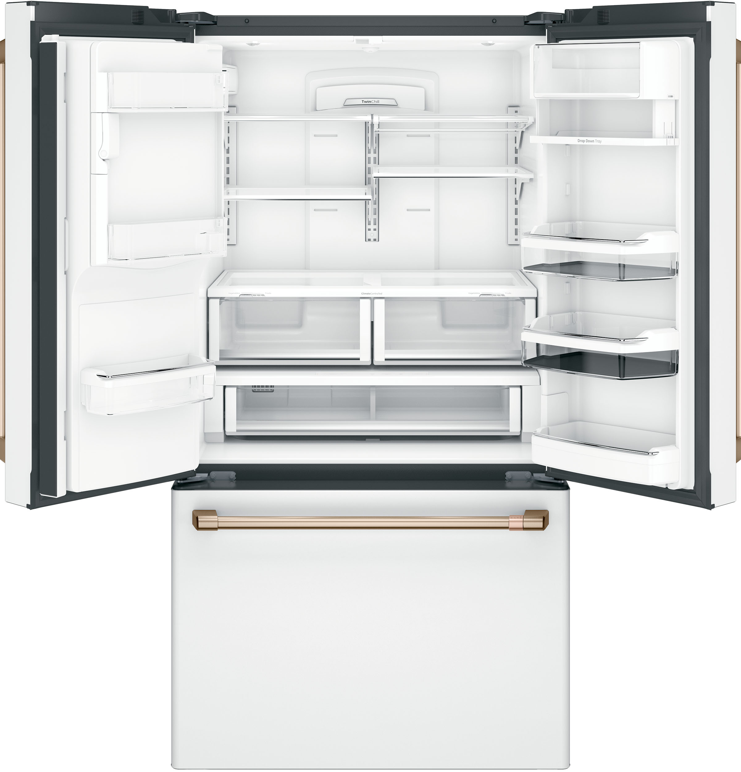 Model: CFE28TP4MW2 | Café™ ENERGY STAR® 27.8 Cu. Ft. French-Door Refrigerator with Hot Water Dispenser