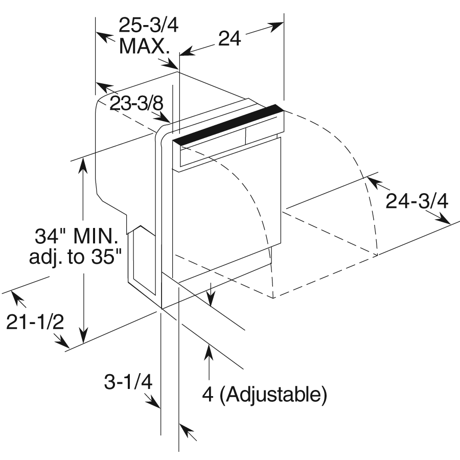Model: HDA2100HWW | Hotpoint® Built-In Dishwasher