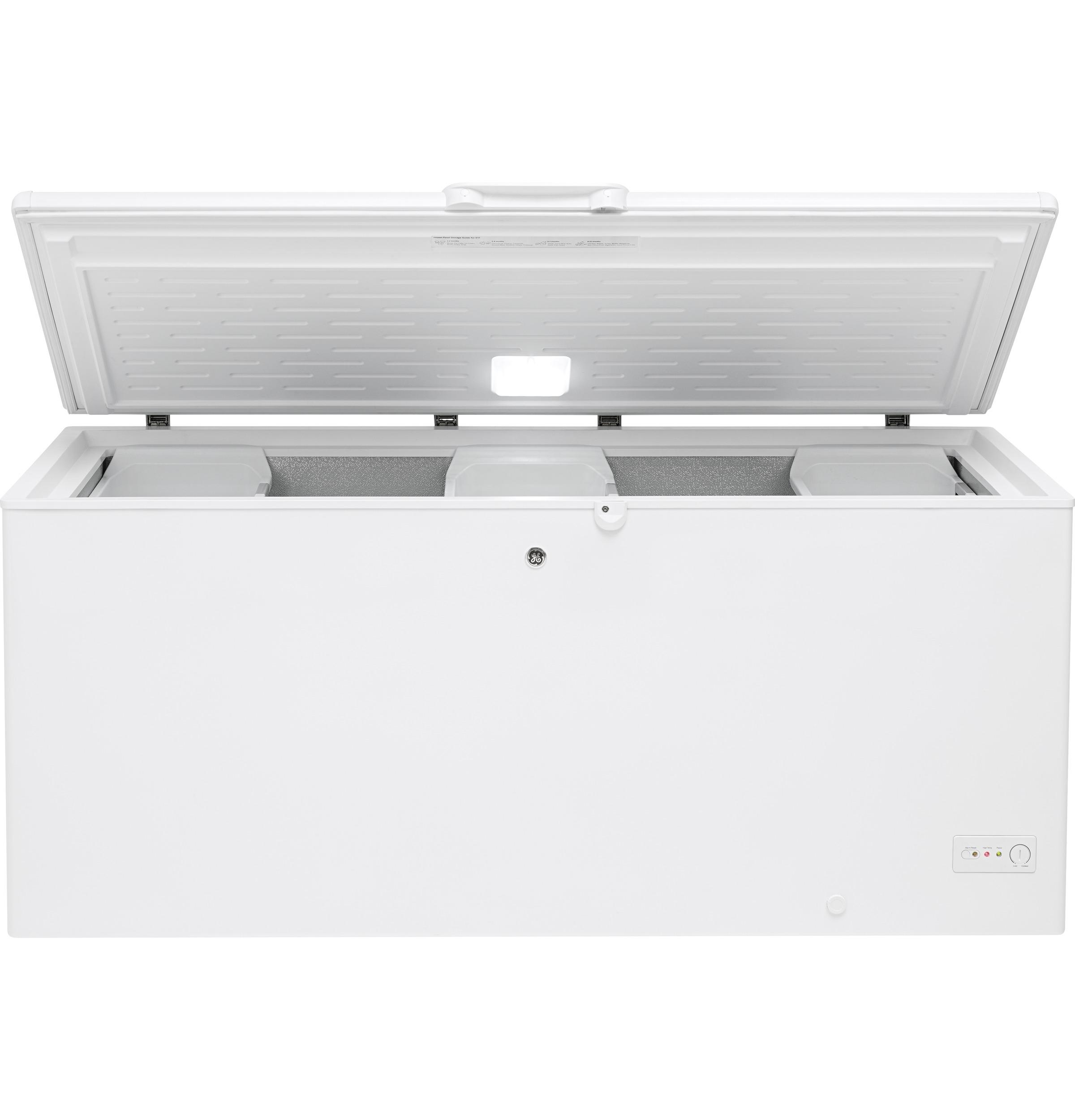 Model: FCM22DLWW | GE® 21.7 Cu. Ft. Manual Defrost Chest Freezer