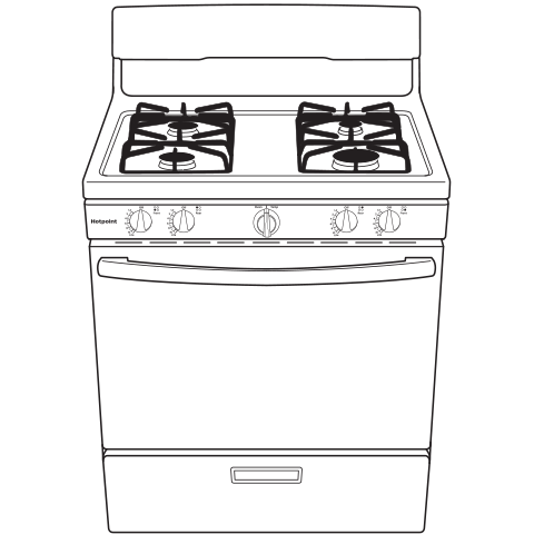 Model: RGBS300DMWW | Hotpoint® 30
