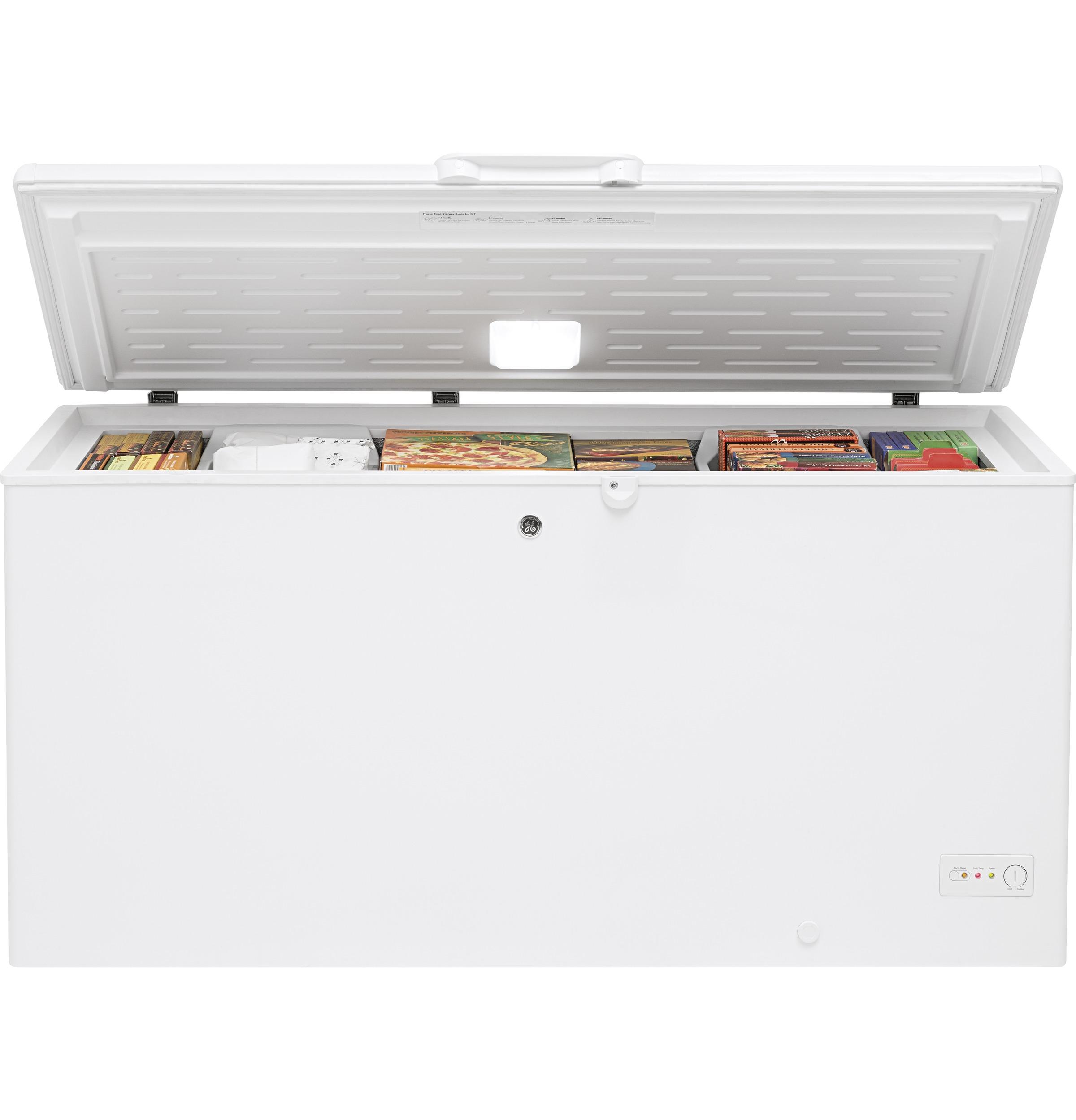 Model: FCM16DLWW | GE® 15.7 Cu. Ft. Manual Defrost Chest Freezer