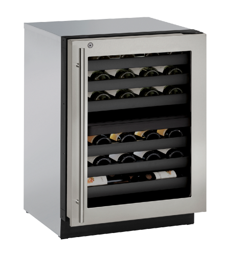 U-Line 24-In. Modular 3000 Series Wine Captain with Stainless Frame Left-Handed Door and Lock