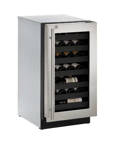 18-In. Modular 3000 Series Wine Captain with Left-Handed Stainless Frame Door and Lock