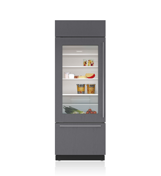 "Sub-Zero 30"" Classic Over-and-Under Refrigerator/Freezer with Glass Door - Panel Ready"