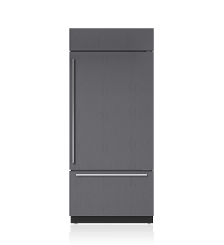 """Sub-Zero 36"""" Classic Over-and-Under Refrigerator/Freezer with Internal Dispenser - Panel Ready"""