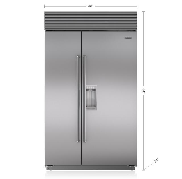 "Model: BI-48SD/S/PH | Sub-Zero 48"" Classic Side-by-Side Refrigerator/Freezer with Dispenser"