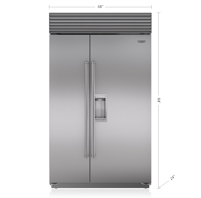 "Model: BI-48SD/S/TH | Sub-Zero 48"" Classic Side-by-Side Refrigerator/Freezer with Dispenser"