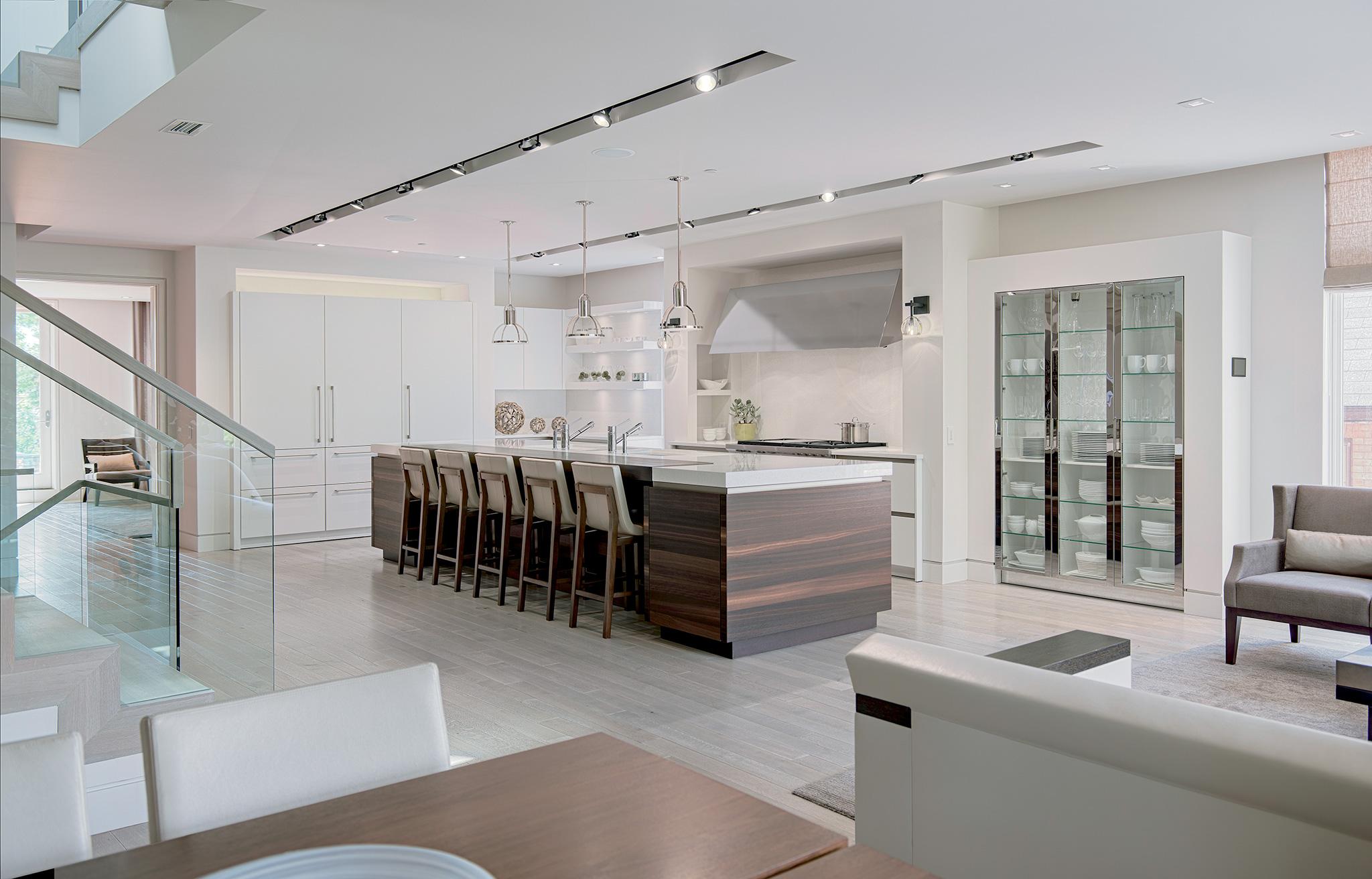 "Sub-Zero 36"" Designer Over-and-Under Refrigerator Internal Dispenser - Panel Ready"