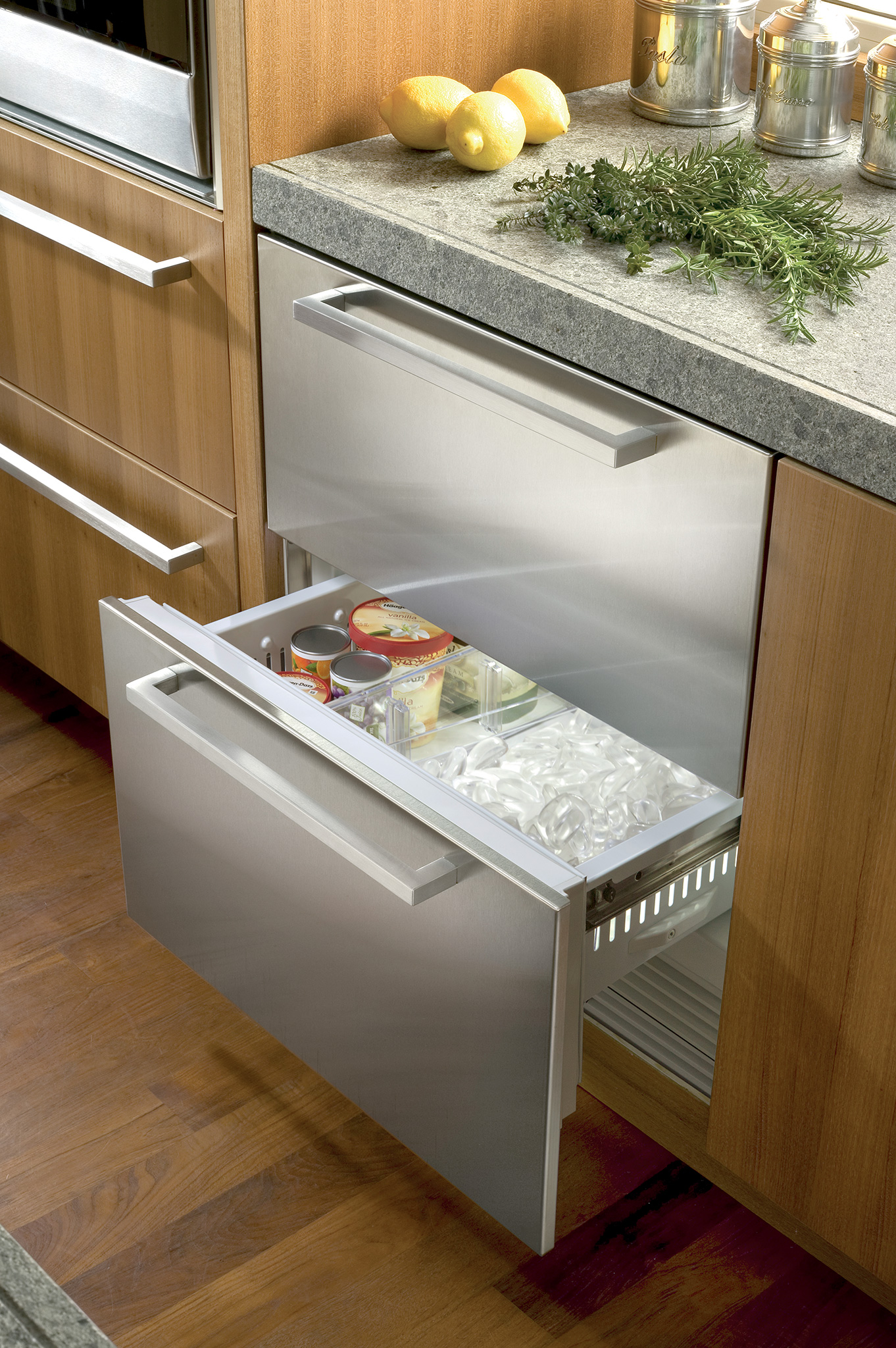 "Model: ID-30FI | Sub-Zero 30"" Designer Freezer Drawers with Ice Maker - Panel Ready"