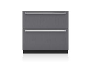 "Sub-Zero 36"" Designer Refrigerator/Freezer Drawers with Ice Maker - Panel Ready"
