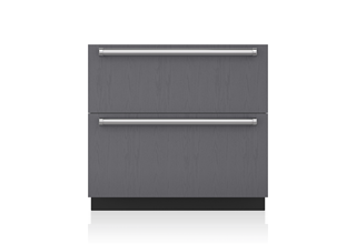 "Sub-Zero 36"" Designer Refrigerator Drawers with Air Purification - Panel Ready"