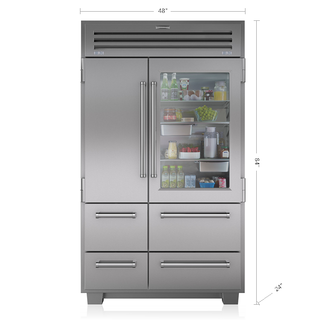Sub-Zero PRO 48 with Glass Door - Legacy Model