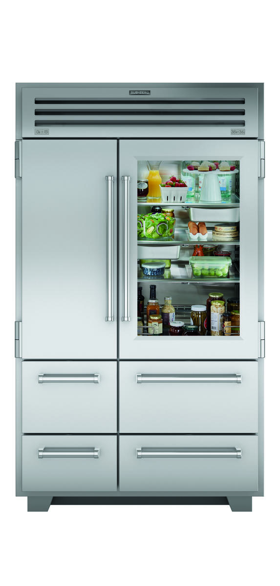 "Sub-Zero 48"" PRO Refrigerator/Freezer with Glass Door"