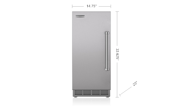 "Model: UC-15IPO | Sub-Zero 15"" Outdoor Ice Maker with Pump - Panel Ready"