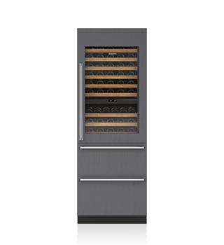 "Sub-Zero 30"" Designer Wine Storage with Refrigerator/Freezer Drawers - Panel Ready"