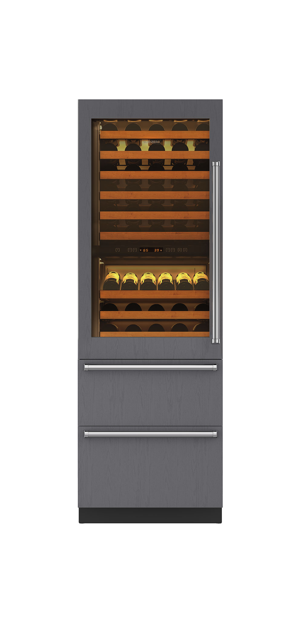 "Sub-Zero 27"" Integrated Wine Storage with Refrigerator Drawers - Panel Ready"