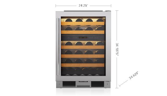 "Model: 424FS/G/TH-RH   Sub-Zero 24"" Freestanding Wine Storage"