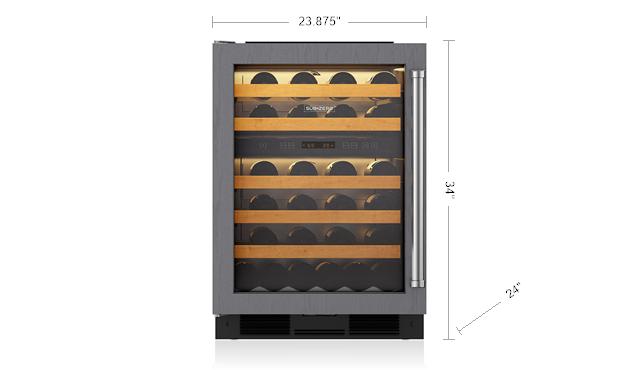 "Model: 424G/O-RH | Sub-Zero 24"" Undercounter Wine Storage - Panel Ready"