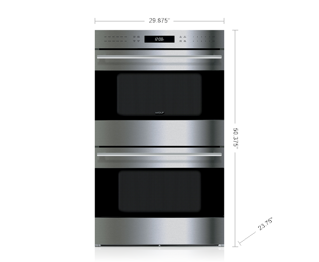 "Model: DO30TE/S/TH | Wolf 30"" E Series Transitional Built-In Double Oven"