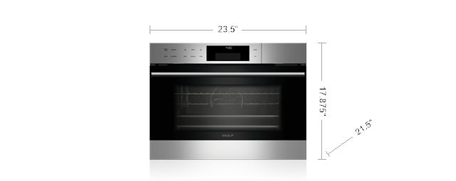 "Model: CS024-Outlet | Wolf 24"" E Series Transitional Convection Steam Oven"