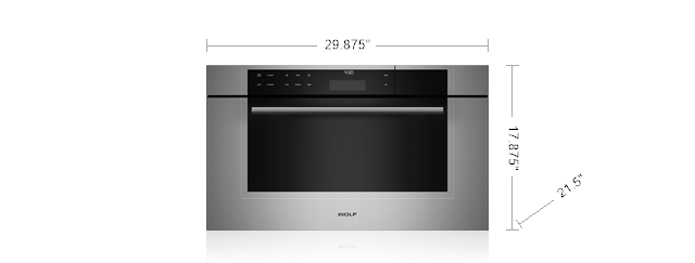 "Model: CSO30TM/S/TH | Wolf 30"" M Series Transitional Convection Steam Oven"
