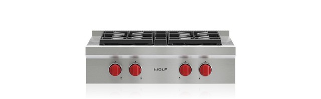 "Wolf 30"" Sealed Burner Rangetop - 4 Burners"