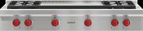"Wolf 48"" Sealed Burner Rangetop - 4 Burners and Infrared Dual Griddle"