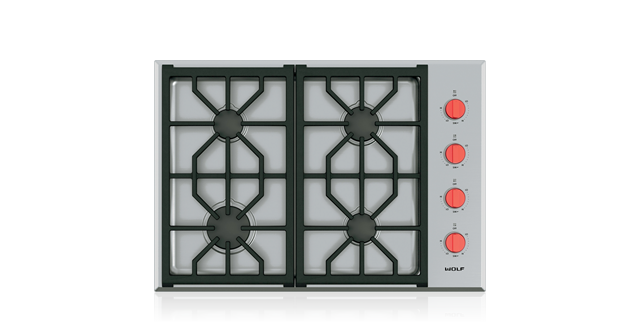 "Wolf 30"" Professional Gas Cooktop - 4 Burners"